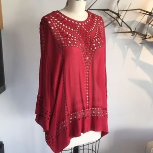 Isabel marant red embroidered top. Size 34